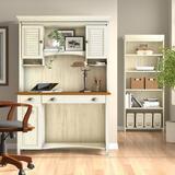 Lark Manor™ Heskett 3 Piece Rectangular Computer Desk Office Set w/ Hutch Wood in White | Wayfair 33B9B43CB7964FC8855F86F33585B9D2