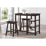 Red Barrel Studio® Kairy 2 - Person Counter Height Dining Set Wood in Brown, Size 36.02 H x 19.0 W x 43.0 D in | Wayfair