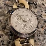 Michael Kors Accessories | Michael Kors Watch | Color: Cream/Silver | Size: Os