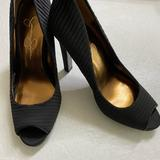 Jessica Simpson Shoes   Jessica Simpson Satin Peep Toe Pumps   Color: Black   Size: 7