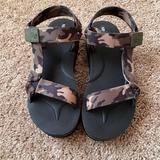 Nine West Shoes | Nine West Camo Sandals | Color: Green/Tan | Size: 9