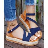 ROSY Women's Sandals Blue - Blue Cutout Platform Espadrille Sandal - Women
