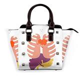 Hugs Keep Us Alive Leather rivet shoulder bag handbag purse handbag purse handbag adjustable bag shoulder strap school work travel gym shopping