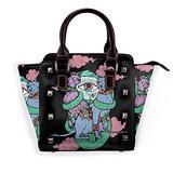 Twins Leather rivet shoulder bag handbag purse handbag purse handbag adjustable bag shoulder strap school work travel gym shopping