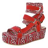 Women's Platform Sandals, Women's Open Toe Ankle Strap Platform Wedge Sandals Fish Mouth Platform Ladies Sandals