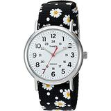 Timex TW2P74400 Women's Indiglo Weekender Floral Fabric Band 3-Hand Analog Watch