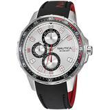 Analog Black Silicone Strap Watch 48 Mm - Black - Nautica Watches