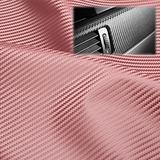 "EzAuto Wrap 54""x420"" (4.5FTx35FT) Rose Gold Fabric Carbon Fiber 54"" Wide Cloth Marine Vinyl Plain Weave Upholstery Automotive Seat Cover"