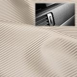 "EzAuto Wrap 54""x300"" (4.5FTx25FT) White Fabric Carbon Fiber 54"" Wide Cloth Marine Vinyl Plain Weave Upholstery Automotive Seat Cover"