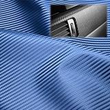 """EzAuto Wrap 54""""x120"""" (4.5FTx10FT) Fabric Carbon Fiber Blue 54"""" Wide Cloth Marine Vinyl Plain Weave Upholstery Automotive Seat Cover"""