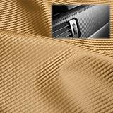 "EzAuto Wrap 54""x180"" (4.5FTx15FT) Fabric Carbon Fiber Gold 54"" Wide Cloth Marine Vinyl Plain Weave Upholstery Automotive Seat Cover"