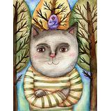 1000 Piece Puzzle/Abstract cat Animal(50x75cm)Game Wooden Puzzles Toy Gift for Home Wall Decoration Puzzle Floor Puzzle