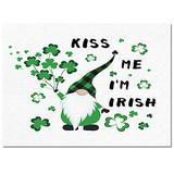 Ocean Party Indoor Collections Area Rugs-Luxury Ultra Soft,Comfort Non-Slip Floor Mat Pad Carpets for Bedroom Entryway Decor-St Patrick's Day Kiss Me I'm Irish Shamrock Dwarf Festival Celebration