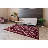 Area Rugs Extra Soft and Comfy Carpet, Area Rugs for Kitchen and Living Room, Area Rugs for Living Room, Indoor Rugs for Bedroom, Machine Rug for Kids Rug, Red/White 5x7 Area Rugs, Geometric Area Rug