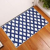 Sussexhome Floral Collection 2 x 3 Foot Heavy Duty Low Pile Rug Runner - Ultra-Thin Non Slip Area Rug - Washable Cotton Indoor Rug for Front Door Foyer Rug for Entryway