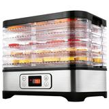 Ancheer 5-Tray Food Dehydrator Machine 250W Digital Timer & Temperature Control Food Dryer For Beef Jerky, Fruits, Vegetables | Wayfair in Black/Gray