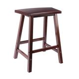 Lark Manor™ Keesee Fan Shape Counter Stool, Walnut Wood in Brown, Size 23.78 H x 19.69 W x 14.46 D in | Wayfair FEF365E0517B4C23AD5CC5D50A7A718C