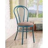 Red Barrel Studio® Jakia Side Chair (Set-2) In Fabric & Teal Upholstered/Metal in Blue/Brown, Size 36.0 H x 16.0 W x 16.0 D in   Wayfair