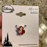 Disney Jewelry | Disney Little Mermaid Charm For Charm Bracelet | Color: Silver | Size: Os