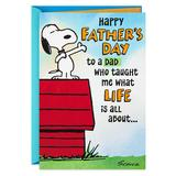"""""""Hallmark Peanuts """"""""What Life is All About"""""""" Father's Day Greeting Card, Multicolor"""""""