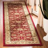 """2'3"""" X 14' Runner Traditional Polypropylene Oriental Area Rugs - Latex Free Hand Tufted Shabby Chic Design Floral Botanical Pattern Transitional Rustic Ivory & Dark Red Farmhouse Area Rugs - Patio"""
