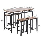 2 Colors Pub Table Dining Set 5-Piece Counter Height Table Set With 4 Chairs Patio furniture sets Outdoor furniture Patio furniture Patio set Patio furniture sets clearance Living room furniture sets