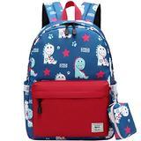 Cute Kid's Toddler Backpack Dinosaur Schoolbag for Boys Girls,Kindergarten Children Bag Preschool Nursery Travel Bag with Chest Clip Cute Red Dinosaur