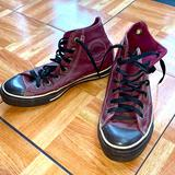 Converse Shoes   Rare Maroonblack Leather High Top Converse - Guc   Color: Black/Red   Size: 7