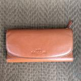 Coach Bags   Coach Tan Leather Checkbook Wallet   Color: Tan   Size: Os