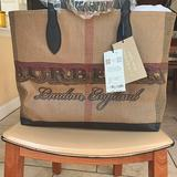 Burberry Bags   Burberry Doodle Tote Reversible Bag $900   Color: Brown   Size: 12 H X 15 W X 7 D