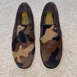 Michael Kors Shoes | Michael Kors Camo Fur Slip On Sneakers 8.5 | Color: Black/Brown | Size: 8.5