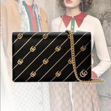 Gucci Bags | Gucci Gg Marmont Crossbody Shoulder Purse Bag Nib | Color: Black | Size: Os