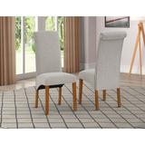 Red Barrel Studio® Dining Chair Set Of 2Wood/Upholstered in Brown, Size 41.0 H x 17.0 W x 20.0 D in | Wayfair E0A2C526AA01488B852D0B43BE9BF2CA