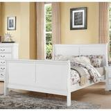 "Alcott Hill® 90""X62""X47"" Queen Size Bed Louis Philippe III Queen Bed Sleigh Bed w/ Headboard in Brown/White, Size 90.0 W x 62.0 D in | Wayfair"