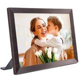 "Latitude Run® 4"" x 10"" Beveled Plastic Digital Frame in Plastic in Brown, Size 7.24 H x 10.39 W x 0.95 D in | Wayfair"