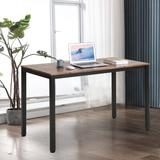 Inbox Zero 47 Inch Industrial Computer Desk, Writing Desk, Home Office Desk, PC Laptop Table, Simple Study Table, Table For Living Or Dining Room