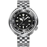 STEELDIVE Diver Watches for Men, Mens Automatic Watches Tuna Self Wind Mechanical Wristwatch Diving 1000M Water Resistant C3 Luminous with Dive Chronograph Ceramic Bezel (Diving Watches 3)
