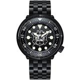 STEELDIVE Dive Watches for Men, Mens Automatic Watches Tuna Self Wind Mechanical Wristwatch Black 30Bar Water Resistant C3 Full Luminous Dial with Diving Chronograph Ceramic Bezel (Dive Watch 2)