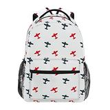 xigua Colorful Airplanes Kids Backpacks for Boys and Girls, Large Capacity Lightweight Primary Elementary School Bookbag with Adjustable Strap, Perfect Size for School & Travel Backpacks