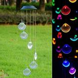 Mi Cielito Solar Color Changing LED Shell Wind Chimes Home Garden Yard Decor Light Lamp Wind Chimes Outdoor Decor Patio Decor Yard Decor Wind Chime Porch Decor Wind Chimes for Outside