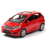 YGTY Casting Car Model 1/32 Diecasts & Toy Vehicles for Honda for FIT Car Model with Sound&Light Pull Back Collection Car Toys Boy Children Gift for Kids Gift (Color : RED)