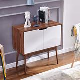 nozama Side Cabinet Storage with 2 Door Modern Buffet Server Sideboard Wooden Standing Cabinet Sideboard for Living Room (Light Brown)