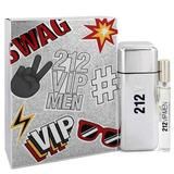 212 Vip by Carolina Herrera Gift Set -- 3.4 oz Eau De Toilette Spray + .34 oz Mini EDT Spray (Men)(Strong practicability)
