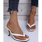 YASIRUN Women's Sandals White - White Kitten-Heel Sandal - Women