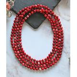 My Gems Rock! Women's Necklaces RED - Red Magnesite Infinity Beaded Necklace