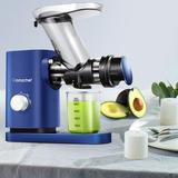 AMZCHEF Slow Masticating Juicer Cold Press Slow Juicer Easy Clean in Blue, Size 15.62 H x 5.59 W x 16.22 D in | Wayfair AZ-ZM1507BL-1-LZ