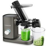 AMZCHEF Slow Masticating Juicer Cold Press Slow Juicer Easy Clean in Gray, Size 15.62 H x 5.59 W x 16.22 D in | Wayfair AZ-ZM1507G-1-LZ