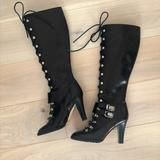 Michael Kors Shoes   Michael Kors Knee High Lace Up High Heel Boots   Color: Black   Size: 7