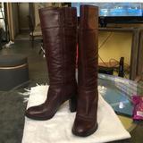 Nine West Shoes | Leather Nine West Burgundy Leather Boots Vtg | Color: Red | Size: 6.5
