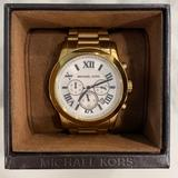 Michael Kors Accessories   Michael Kors Mens Cooper Textured Gold Watch   Color: Gold/White   Size: Os